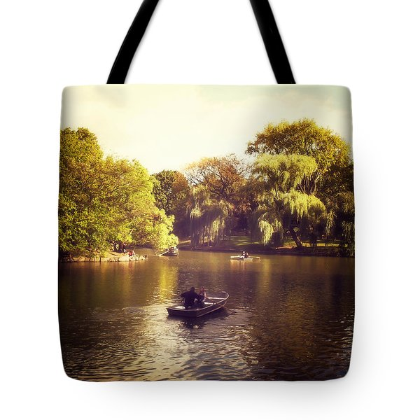 Central Park Romance - New York City Tote Bag by Vivienne Gucwa