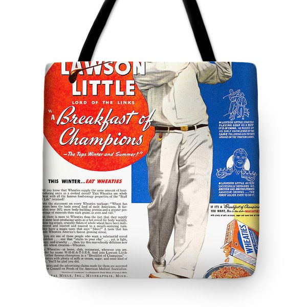 Cereal Advertisement, 1937 Tote Bag by Granger