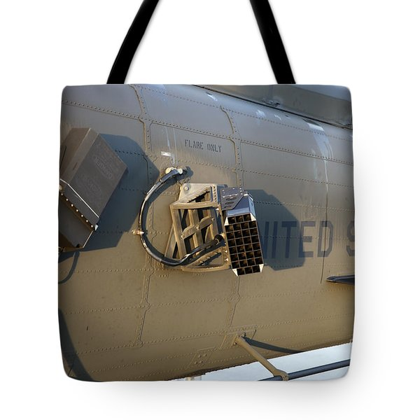 Chaff And Flare Dispensers On A U.s Tote Bag by Timm Ziegenthaler