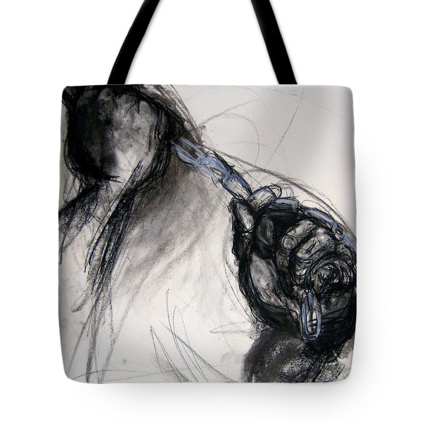 Tote Bag featuring the drawing Chain by Gabrielle Wilson-Sealy