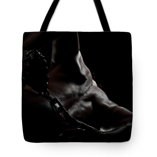 Chain On Nude Tote Bag by Scott Sawyer