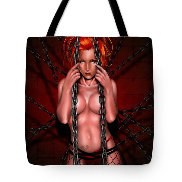 Chains Of Desire Remix Tote Bag by Pete Tapang