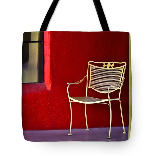 Chair On The Balcony Tote Bag by Carol Leigh