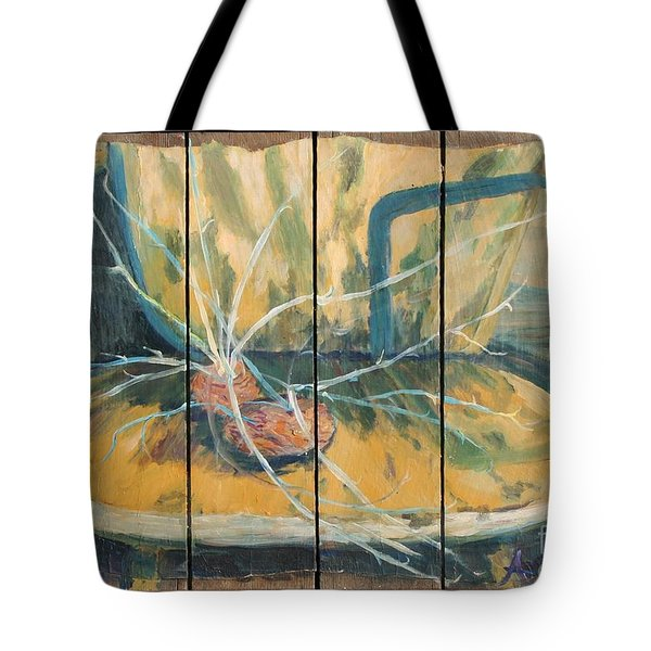 Tote Bag featuring the painting Chair With Potatoes by Avonelle Kelsey