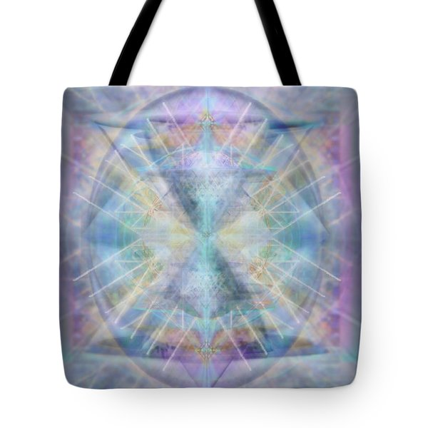 Chalice Of Vorticspheres Of Color Shining Forth Over Tapestry Tote Bag
