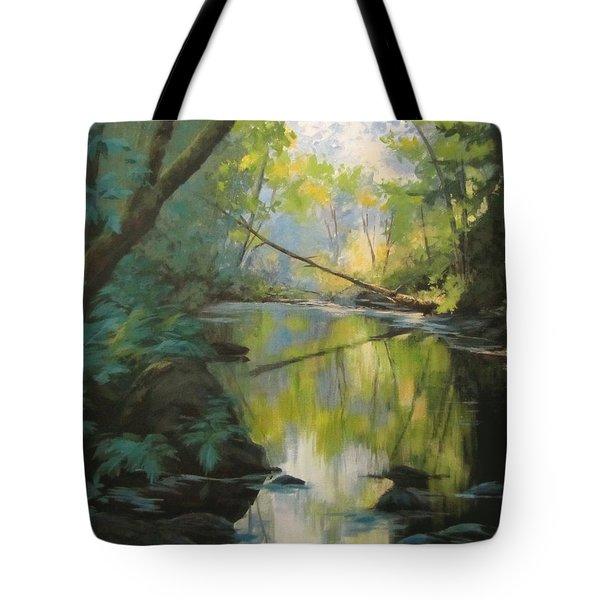 Champagne Creek Tote Bag by Karen Ilari
