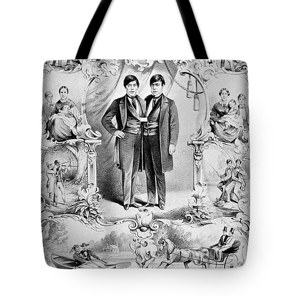 Chang And Eng Bunker, The Original Tote Bag by Science Source