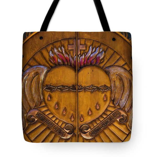 Chapel Doors Tote Bag
