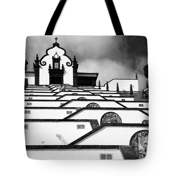 Chapel In Azores Tote Bag by Gaspar Avila