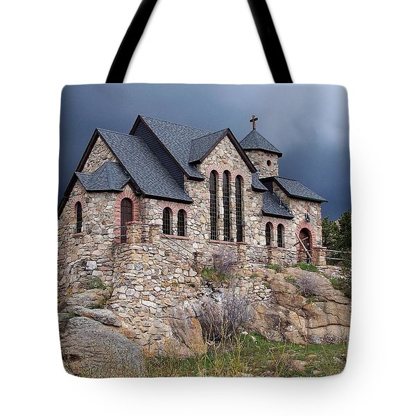 Chapel On The Rocks No. 1 Tote Bag by Dorrene BrownButterfield