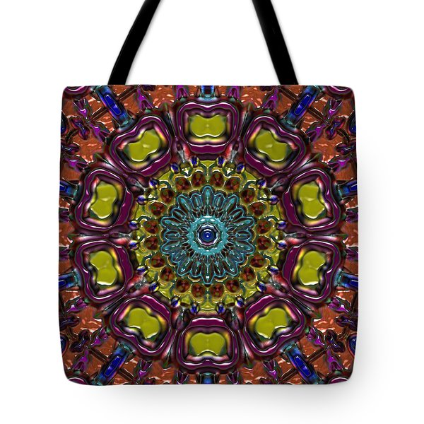 Tote Bag featuring the digital art Chapel Window by Alec Drake
