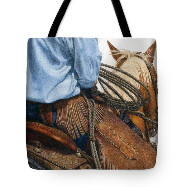 Tote Bag featuring the painting Chaps by Pat Erickson