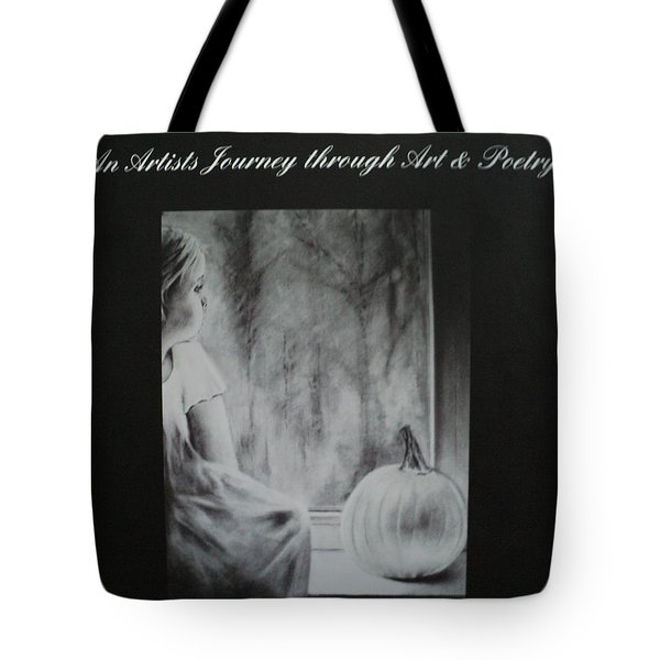 Charcoal Expressions My Poetry And Art Book Tote Bag by Carla Carson