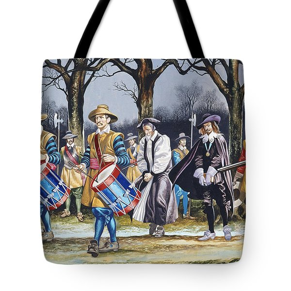 Charles I's Last Walk  Tote Bag by Ron Embleton