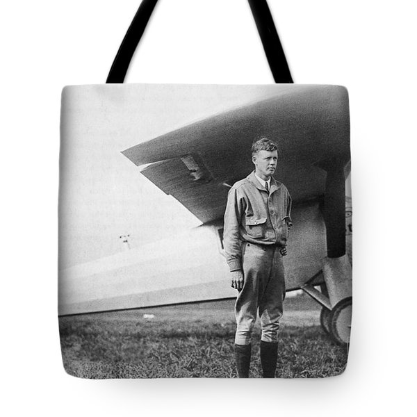 Charles Lindbergh American Aviator Tote Bag by Photo Researchers