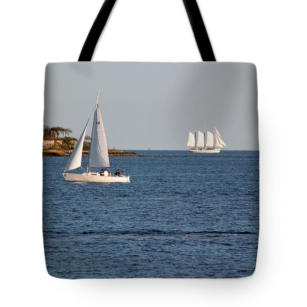 Charleston Harbor Scenic Tote Bag by Suzanne Gaff