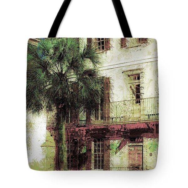 Tote Bag featuring the photograph Charleston Homes by Donna Bentley