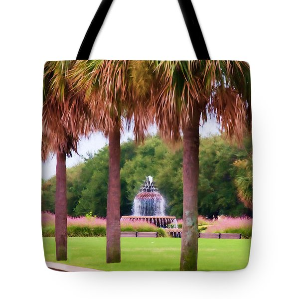 Charleston Pineapple Fountain Tote Bag
