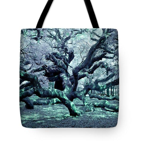Tote Bag featuring the photograph Charleston's Angel Oak by Louis Dallara