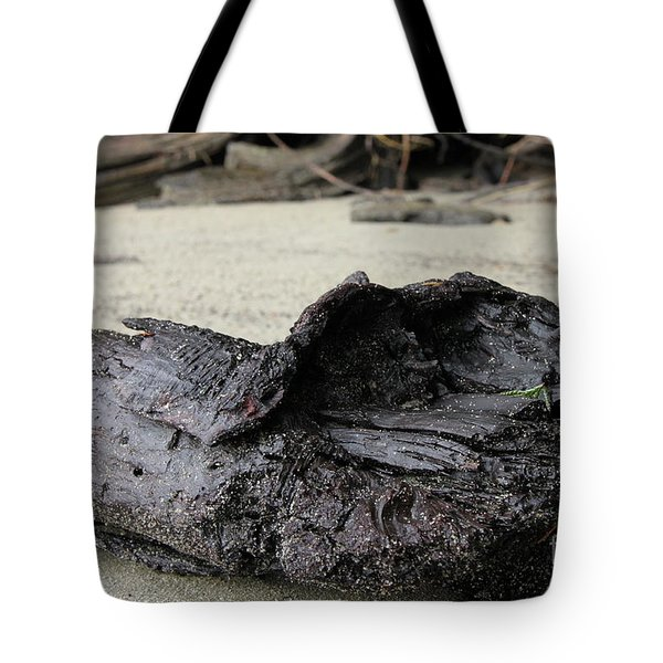 Charred Driftwood Tote Bag by Nancy Harrison