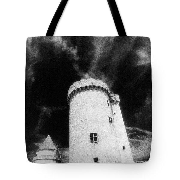 Chateau De Blandy Les Tours Tote Bag by Simon Marsden