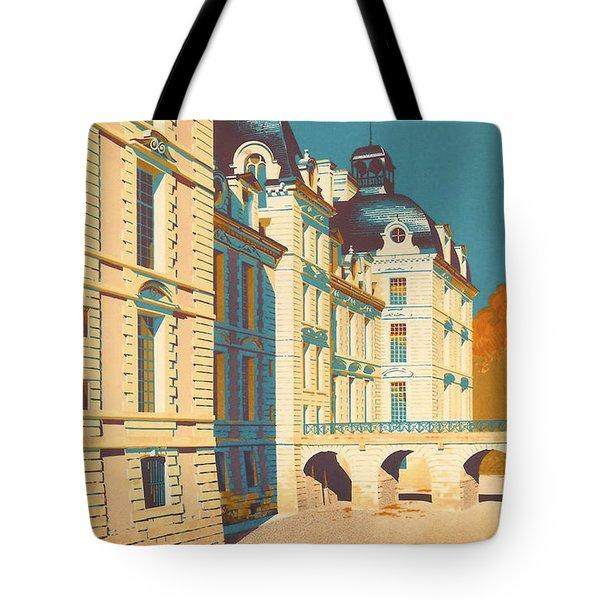 Chateau De Cheverny Tote Bag by Georgia Fowler