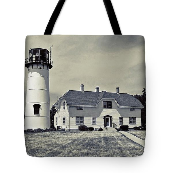 Chatham Light In Bw Tote Bag