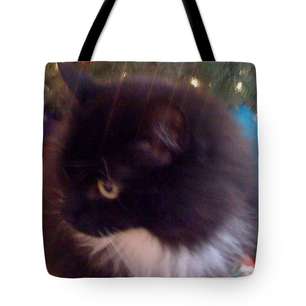 Chaucy Kitty All Sparkly #cats #fluffy Tote Bag