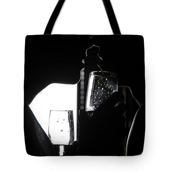 Cheers Before The Kiss Tote Bag by Jenny Rainbow