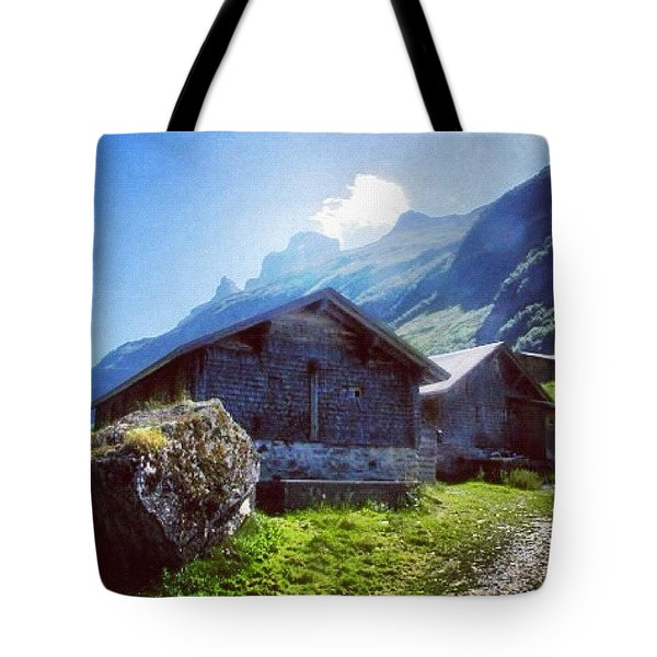 Cheese Huts In The Swiss Alps Tote Bag