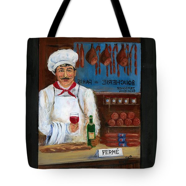 Chef At Days End Tote Bag by Marilyn Dunlap