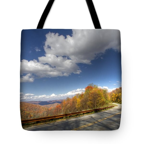 Cherohala Skyway Tote Bag by Debra and Dave Vanderlaan