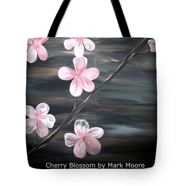 Cherry Blossom By Mark Moore Tote Bag by Mark Moore