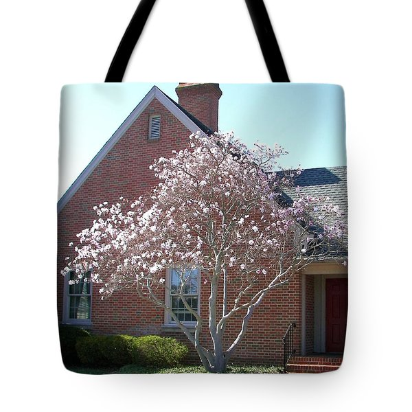 Tote Bag featuring the photograph Cherry Blossom by Pamela Hyde Wilson