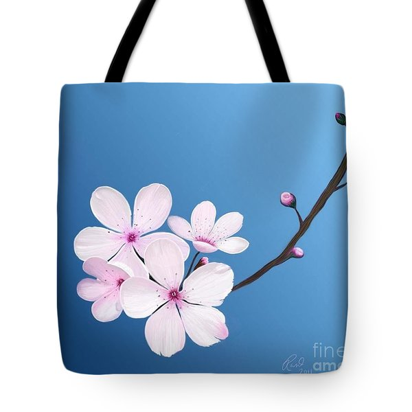Cherry Blossoms Tote Bag by Rand Herron