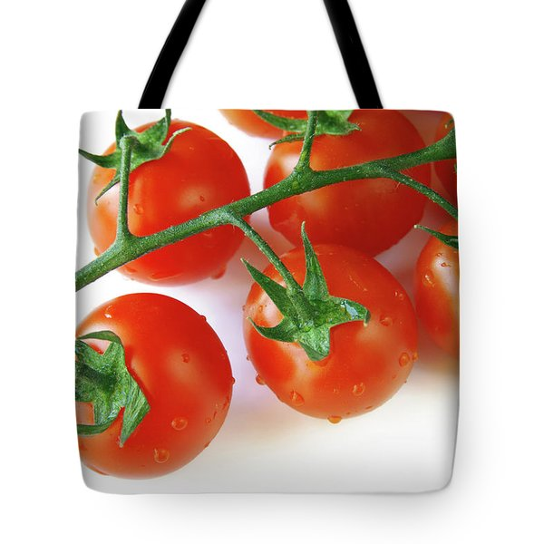Cherry Tomatoes Tote Bag by Carlos Caetano