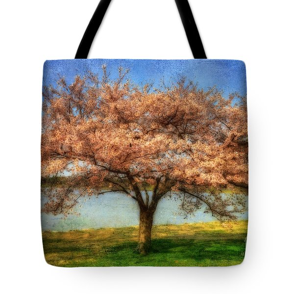 Cherry Tree Tote Bag by Lois Bryan
