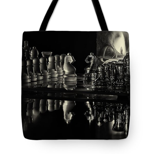 Chess By Candlelight Tote Bag