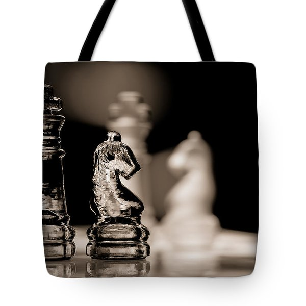 Chess King And Knight Tote Bag
