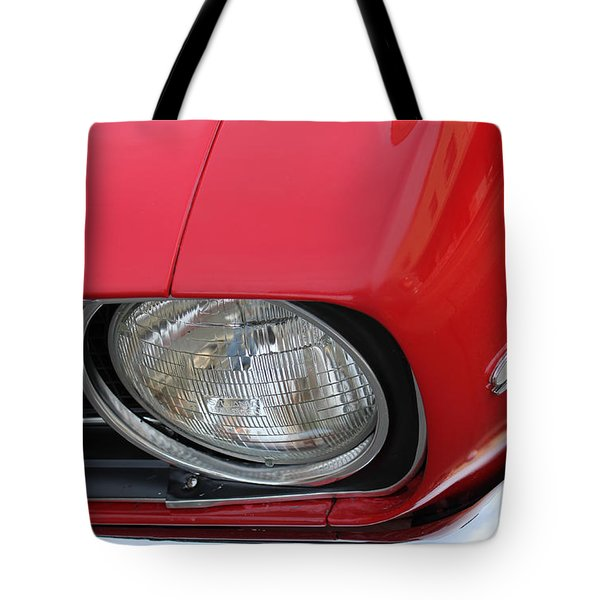 Tote Bag featuring the photograph Chevy S S Emblem by Bill Owen
