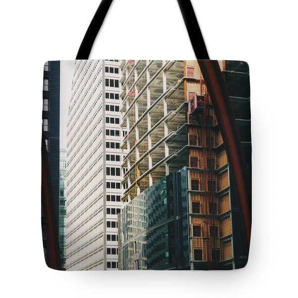 Chicago Geometry Tote Bag by First Star Art