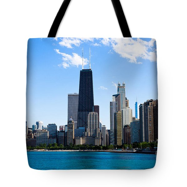 Chicago Lakefront With John Hancock Building Tote Bag by Paul Velgos
