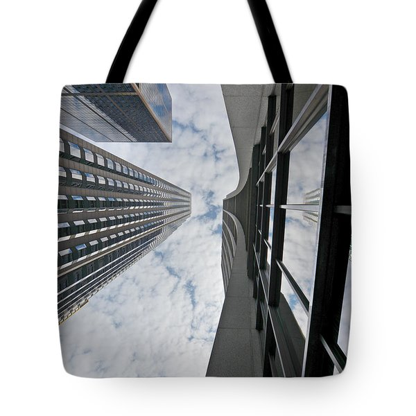 Chicago - Look Towards The Sky Tote Bag by Christine Till