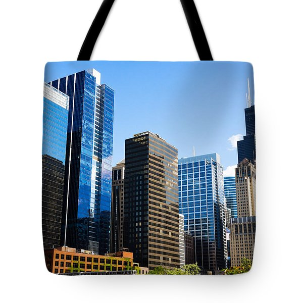 Chicago Skyline Downtown City Buildings Tote Bag by Paul Velgos