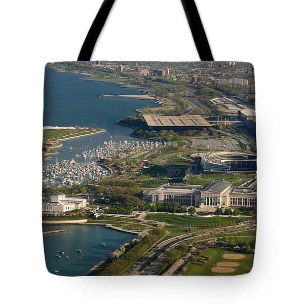 Chicagos Lakefront Museum Campus Tote Bag by Steve Gadomski