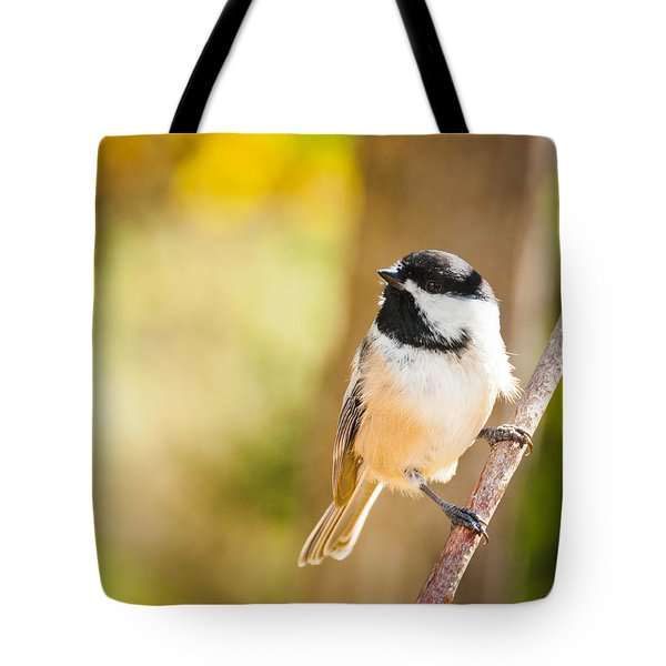 Tote Bag featuring the photograph Chickadee by Cheryl Baxter