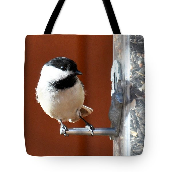 Chickadee Tote Bag by Cheryl McClure