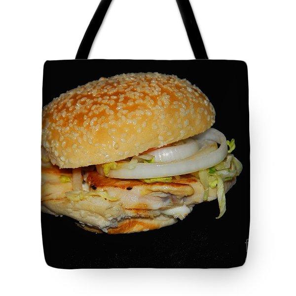 Chicken Sandwich Tote Bag by Cindy Manero