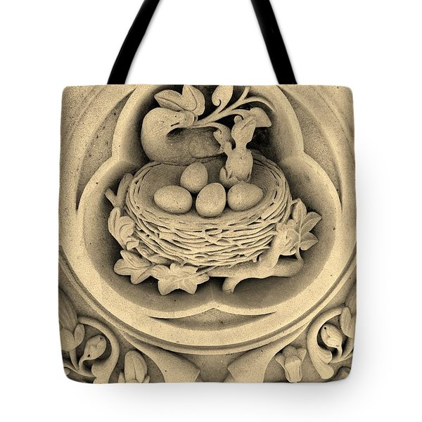 Chicks In Stone In Sepia Tote Bag by Rob Hans