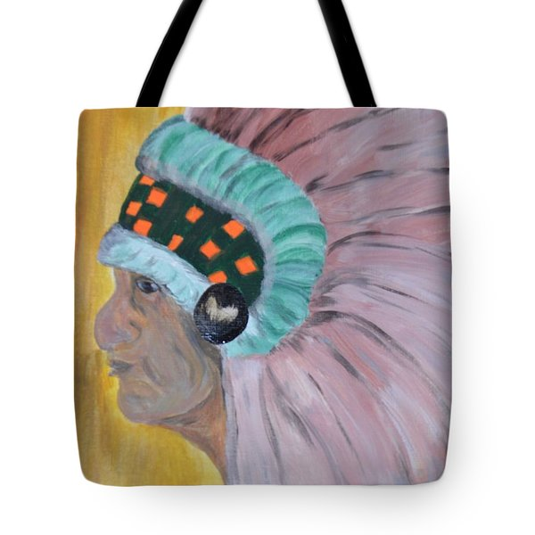 Tote Bag featuring the painting Chief by Maria Urso
